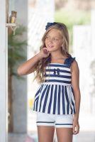 Girls Miranda Navy and White Shorts Set 306