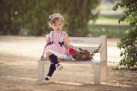 Girls Miranda Navy, Red and White Dress and Pants 155