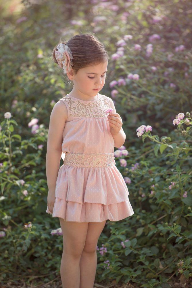PRE ORDER SS20 Girls Miranda Pale Pink Skirt Set 227