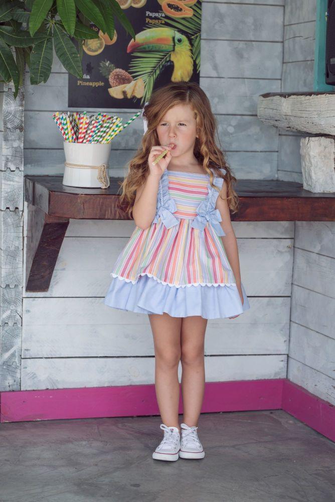 PRE ORDER SS20 Girls Miranda Rainbow Dress 612