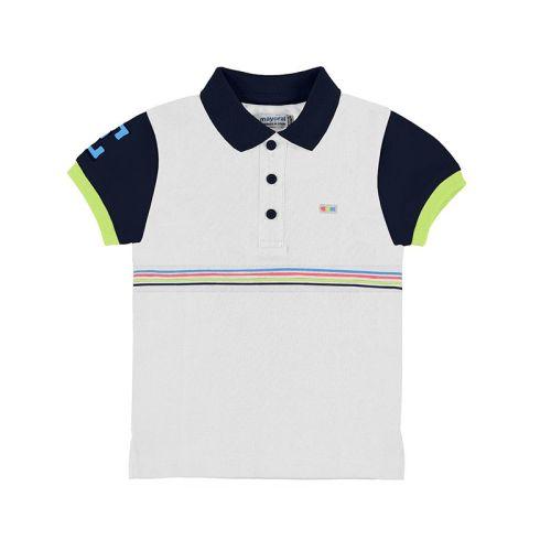 Boys Mayoral Polo Shirt 3153 White