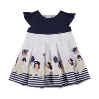 Girls Mayoral Dress 1914 Navy