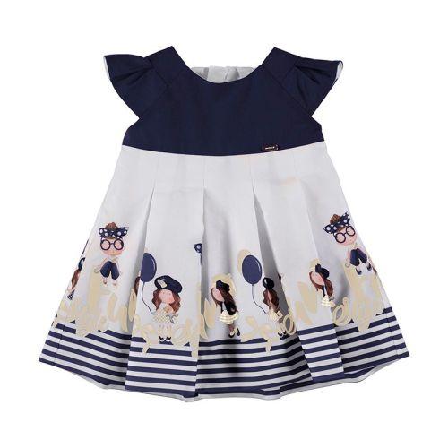Girls Mayoral Dress 1914 Navy
