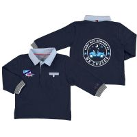Boys Mayoral Long Sleeve Polo Shirt 1154 - Navy