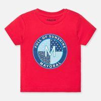 Boys Mayoral Short Sleeve T Shirt 1041 - Hibiscus