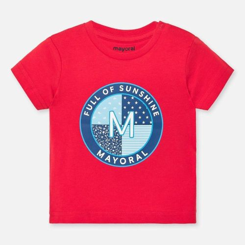 Boys Mayoral Short Sleeve T Shirt 1041 - Hibiscus