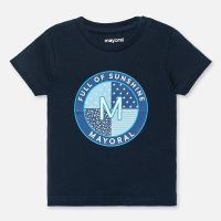 Boys Mayoral Short Sleeve T Shirt 1041 - Navy