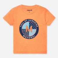 Boys Mayoral Short Sleeve T Shirt 1041 - Neon Mango