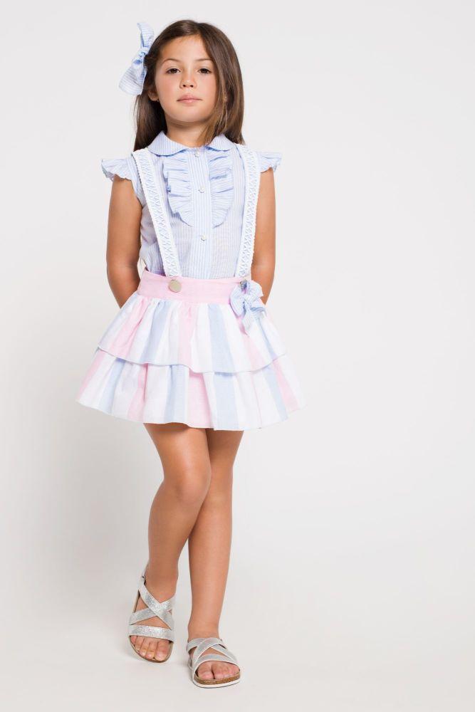 Girls Naxos Navy Skirt Set 6561 6586