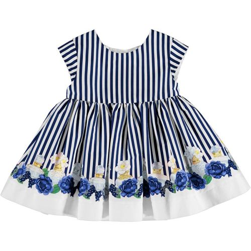 Girls Mayoral Dress 1920 - Navy