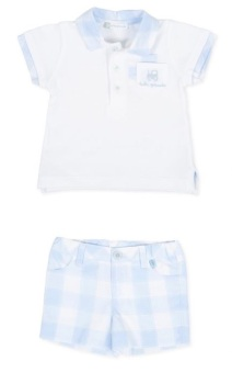 Boys Tutto Piccolo Polo Shirt and Shorts Set 8815, 8315