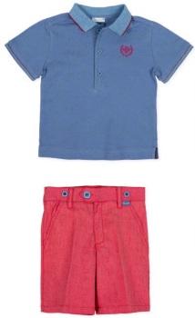 Boys Tutto Piccolo Polo Shirt and Shorts Set 8834, 8334