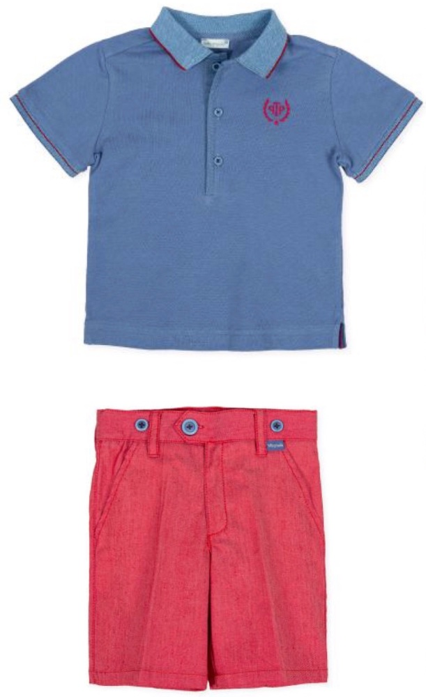 Boys Tutto Piccolo Polo Shirt and Shorts Set 8834, 8334