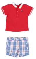 Boys Tutto Piccolo Polo Shirt and Shorts Set 8841, 8341