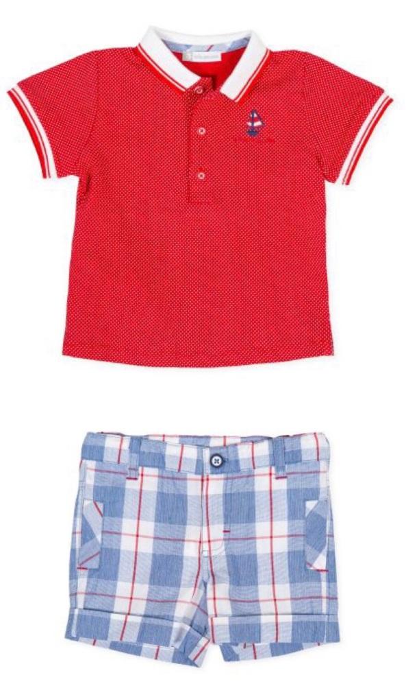 Boys Tutto Piccolo Polo Shirt and Shorts Set 8841, 8341