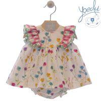 Girls Yoedu Floral Dress and Pants 48