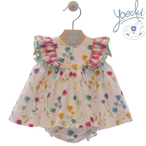 Girls Yoedu Floral Dress and Pants 48
