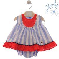Girls Yoedu Red, White Blue Dress and Pants 60