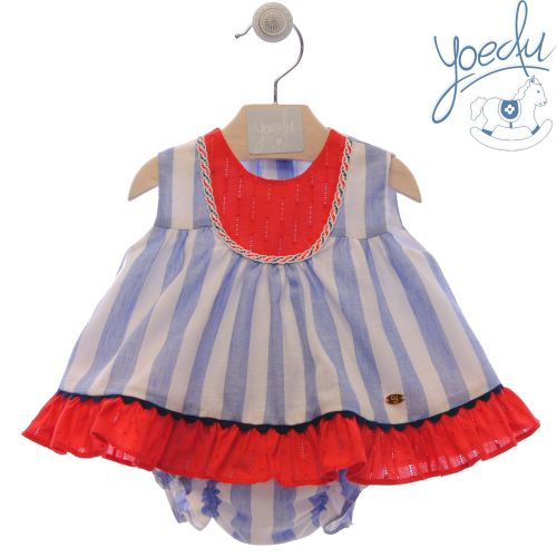 Girls Yoedu Red, White Blue Dress and Pants 60