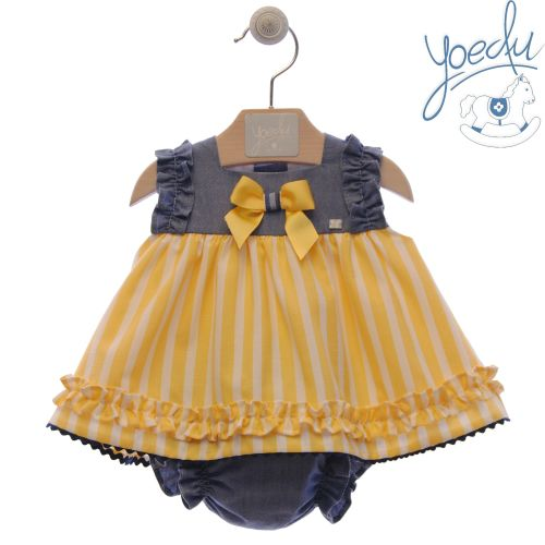Girls Yoedu Red, White Lemon and Navy Dress and Pants 63