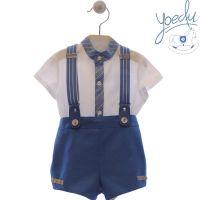 Boys Yoedu Blue and White Set 252