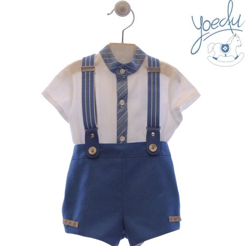 Boys Yoedu Blue and White Set 252
