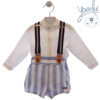Boys Yoedu Blue and White Set 265