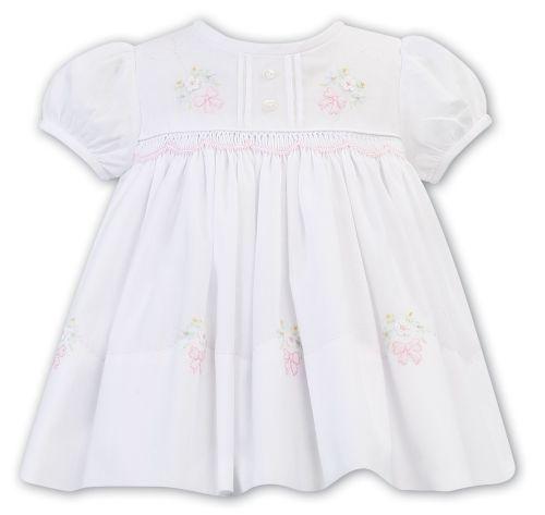 Girls Sarah Louise Dress 011823 - White