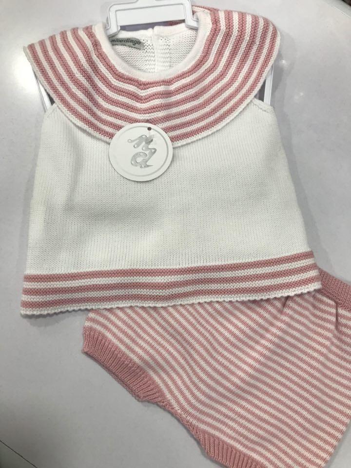 Nico Dongo Dusky Pink and White Set