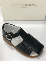 Boys Andanines Navy Leather Sandals