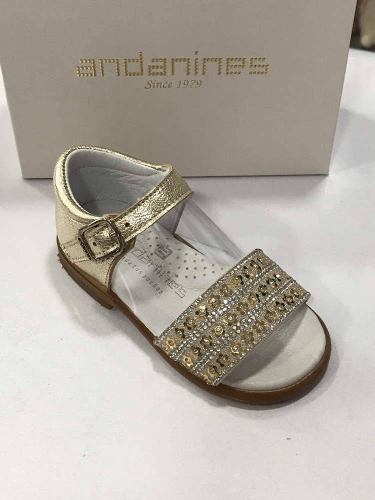 Girls Andanines Gold Sandals