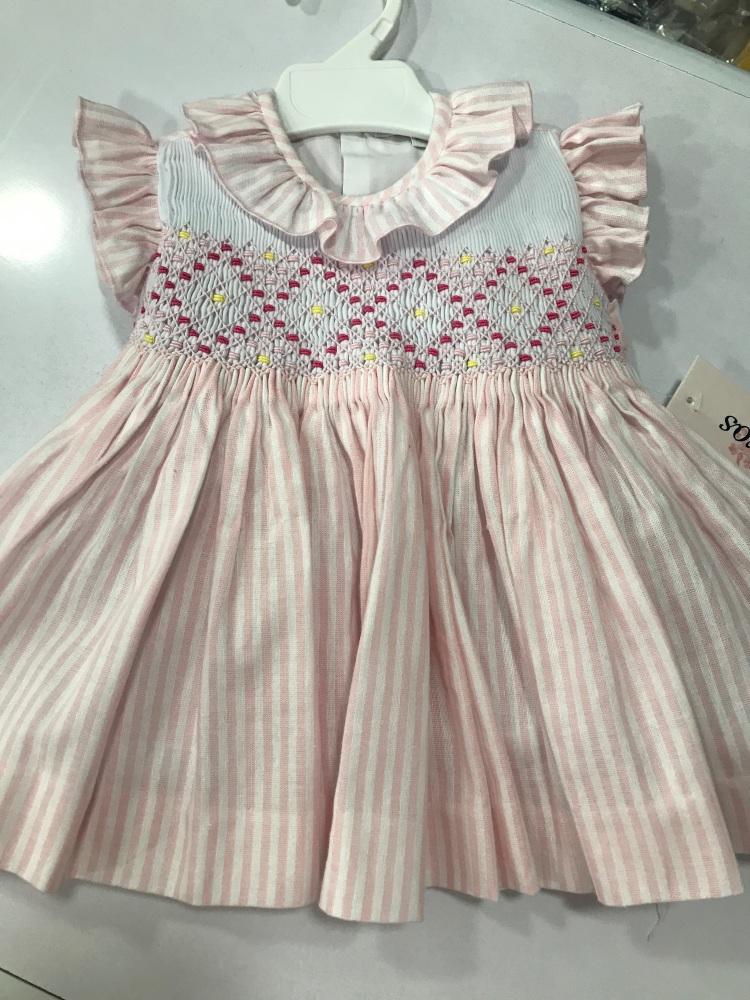 Girls Naxos Smocked Dress 6535 - Pink