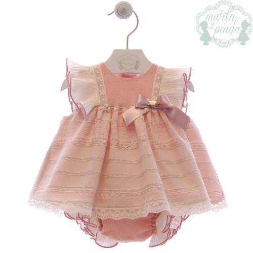 Girls Marta Y Paula Stone Pink Dress and Pants 44