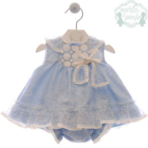 Girls Marta Y Paula Stone Blue Dress and Pants 45