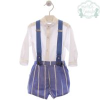 Boys Marta Y Paula Blue and White Set 252
