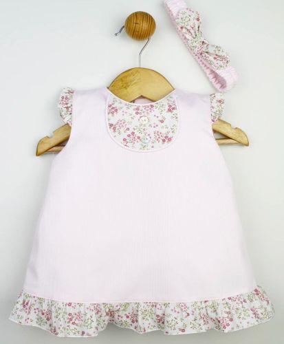Girls Popys Pink Floral Dress 22368