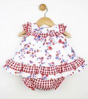 Girls Popys Floral Dress and Pants 22411