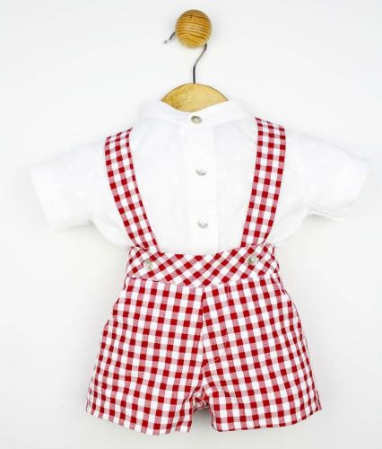 Boys Popys Red and White Set 22414