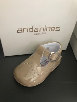 Boys Andanines Soft Sole Shoes 182893 - Camel
