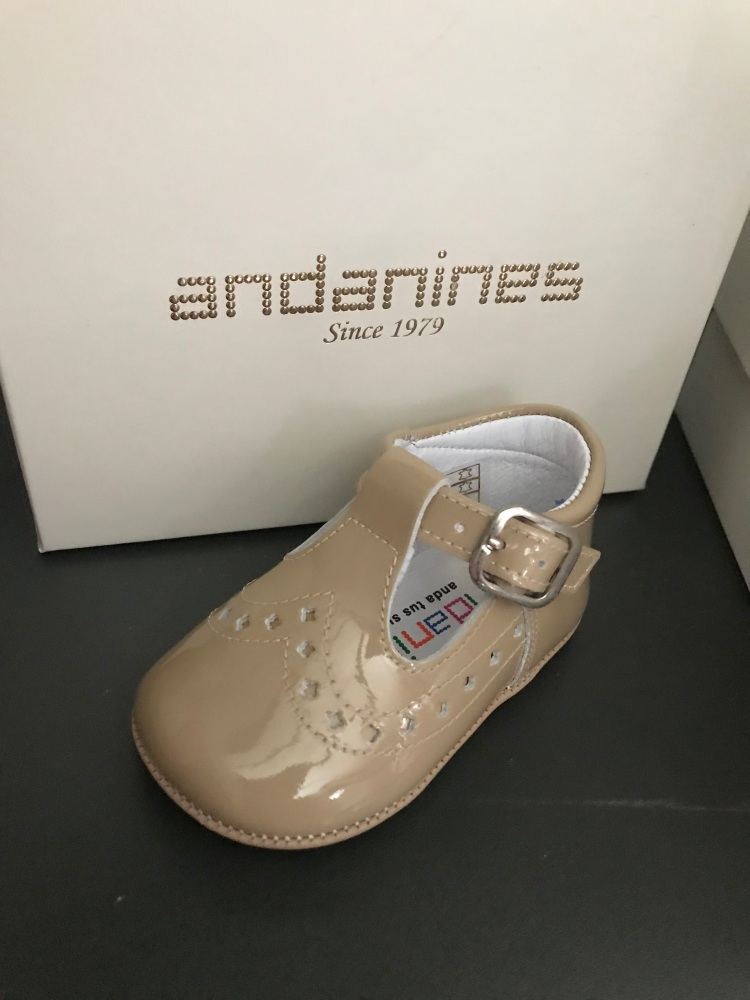 Boys Andanines Soft Sole Shoes - Camel 182893