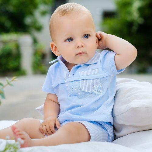 Boys Tutto Piccolo Polo Shirt and Shorts Set 8812, 8312