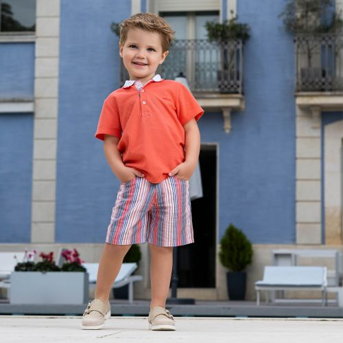 Boys Tutto Piccolo Polo Shirt and Shorts Set 8825, 8325