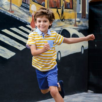 Boys Tutto Piccolo Polo Shirt and Shorts Set 8836, 8313