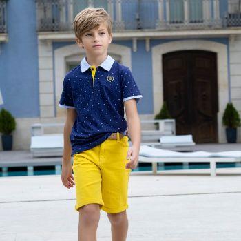 Boys Tutto Piccolo Polo Shirt and Shorts Set 8837, 8331