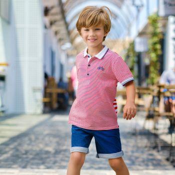 Boys Tutto Piccolo Polo Shirt and Shorts Set 8844, 8344