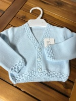 CLEARANCE PRICE Boys Cardigan 749 - Blue.  Available in 3m