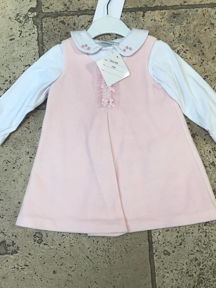 CLEARANCE PRICE Girls Dani Pinafore Dress and Blouse 12m