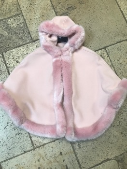 CLEARANCE PRICE Girls Fur Trimmed Cape - Large 6-14 years