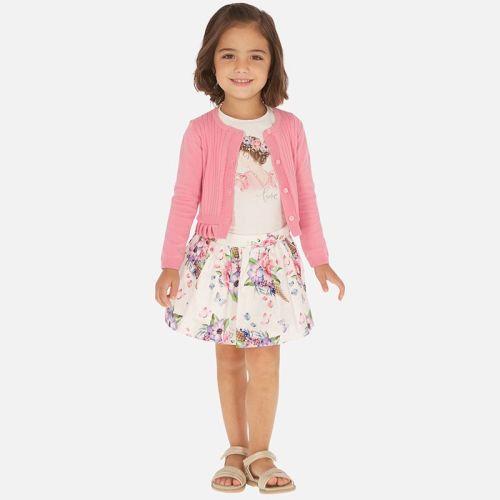 Girls Mayoral Top and Skirt Set 3963 - Hollyhock 64