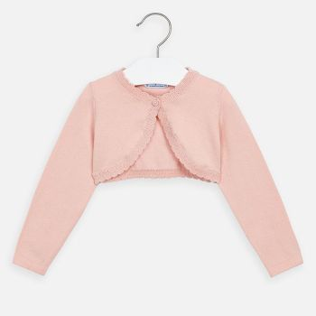 Girls Mayoral Cardigan 320 - Peach Pink 76